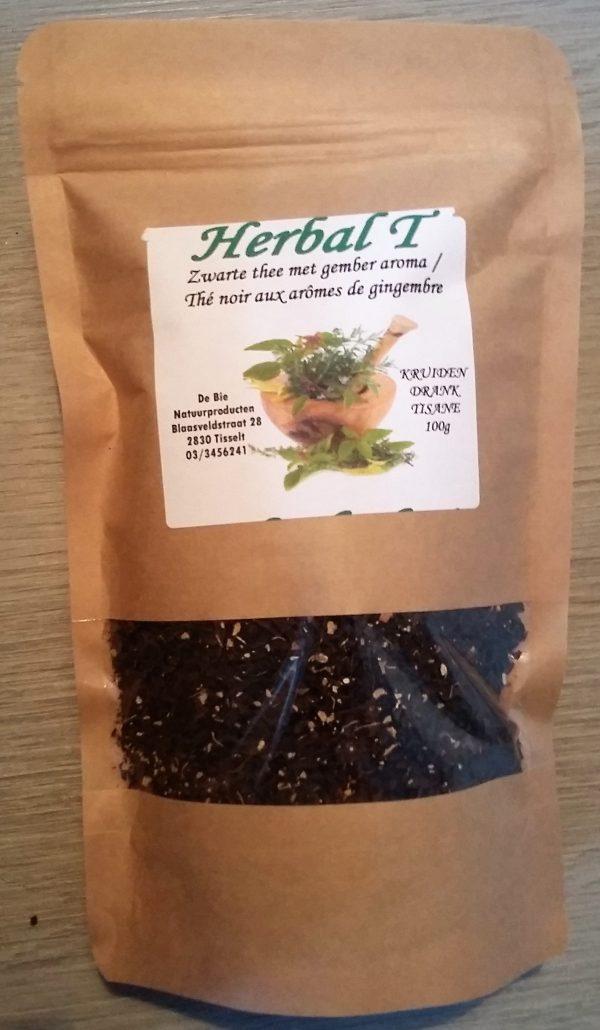zwarte thee mer gember verpakking